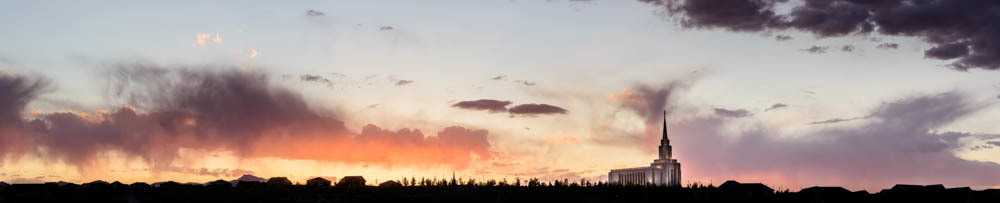 Oquirrh Mountain Temple - Sunset Panorama