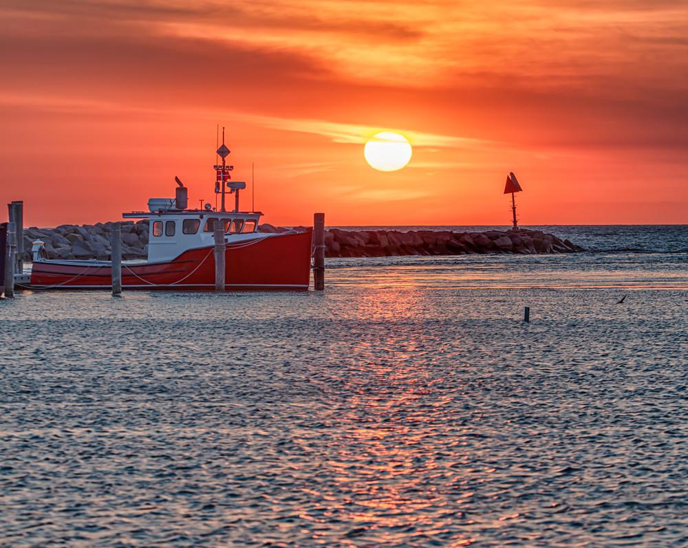 Menemsha Sunset Boat Art | Michael Blanchard Inspirational Photography - Crossroads Gallery
