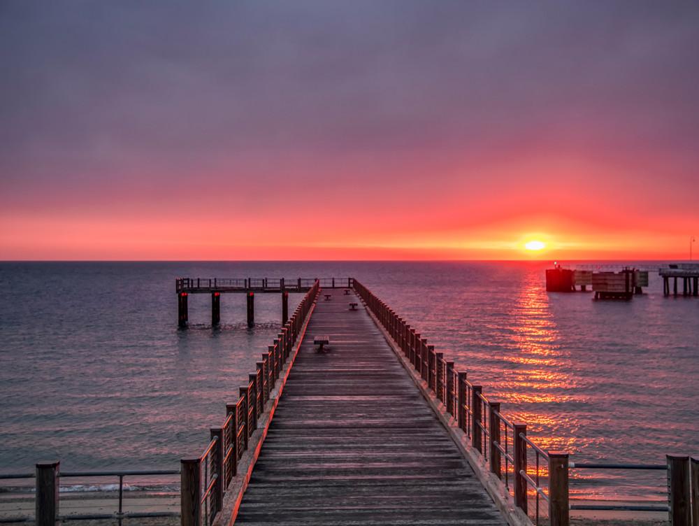 Oak Bluffs Pier Spring Sunlight Art | Michael Blanchard Inspirational Photography - Crossroads Gallery