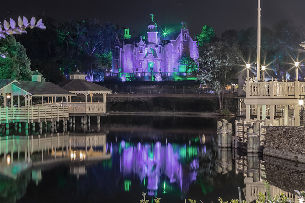 Haunted Mansion Reflection 3 - Magic Kingdom Art   William Drew Photography