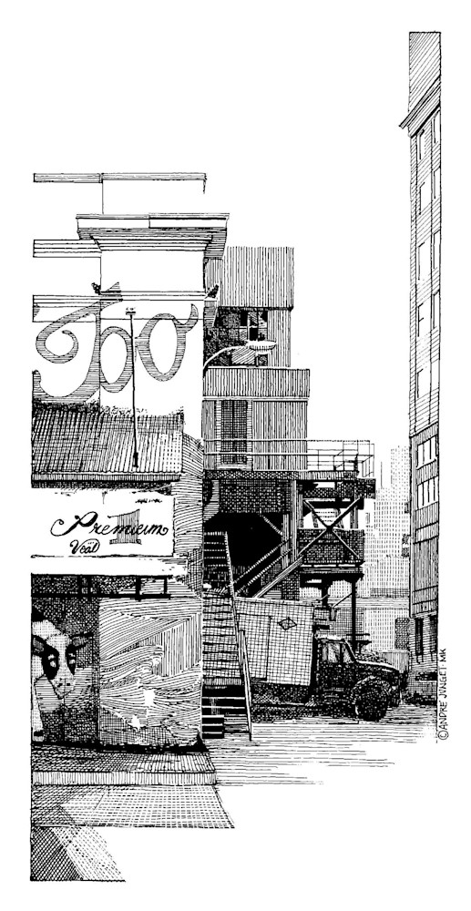 Meat Packing District, Nyc Art | Andre Junget Illustration LLC