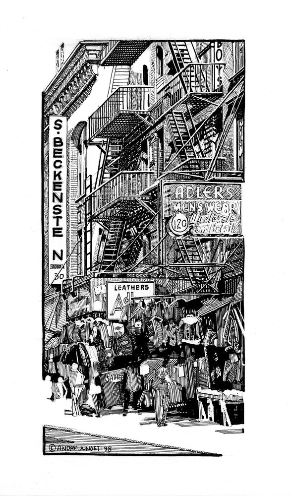 S. Beckenstein, Nyc Art   Andre Junget Illustration LLC