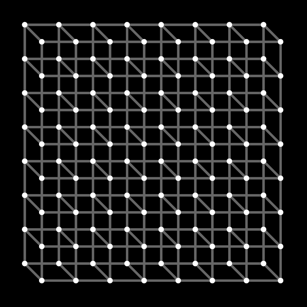 Scintillating Necker Cube Array Art   Between Art and Science