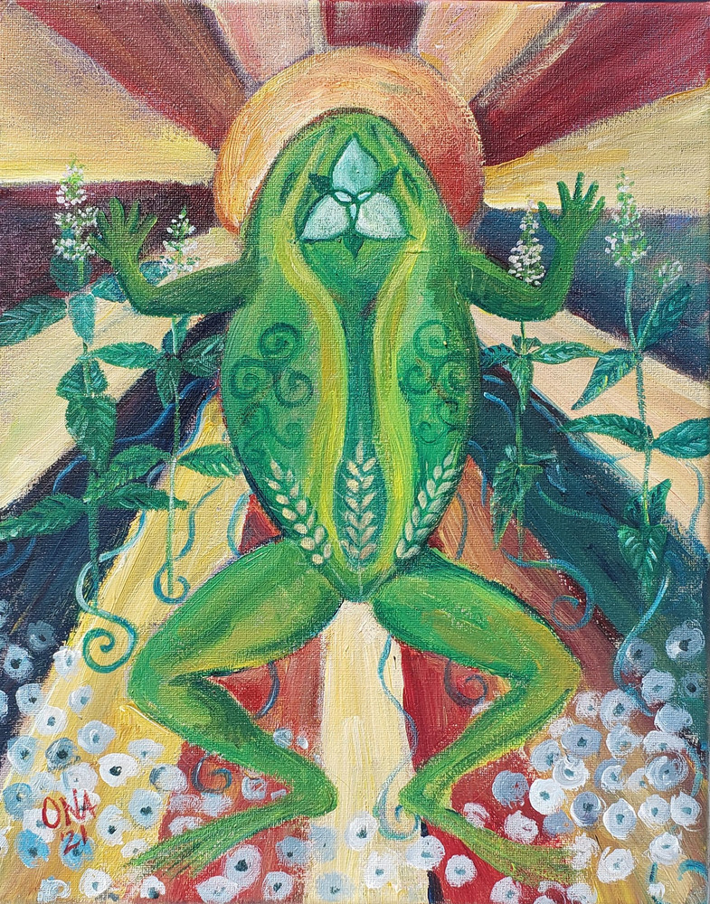 Frog spirit animal print - abundance