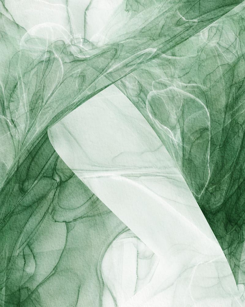 Fresh Green Abstract Art | onlythemoon