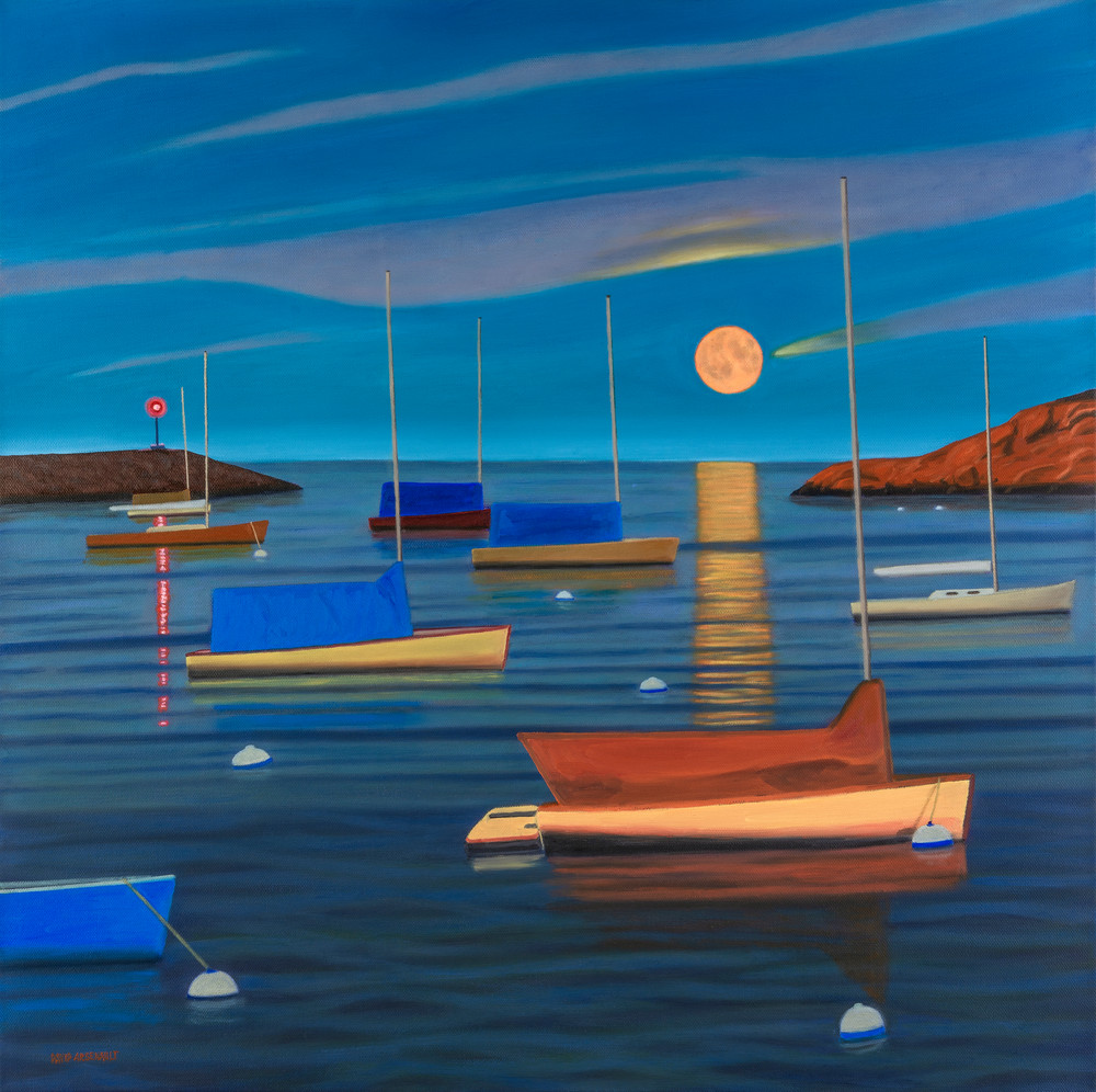 Harboring Moonlight Art | The Art of David Arsenault