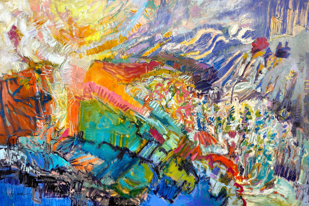 And The Colors Shone Up From Within My Heart  Art   Dorothy Fagan Joy's Garden