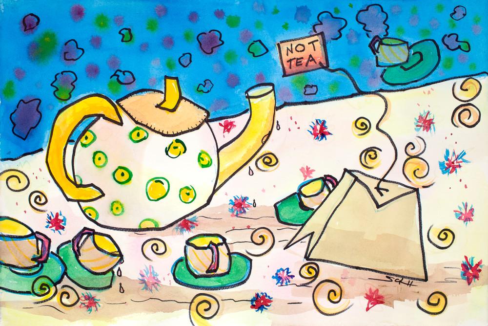 Not Tea Art   Elaine Schaefer Hudson Art