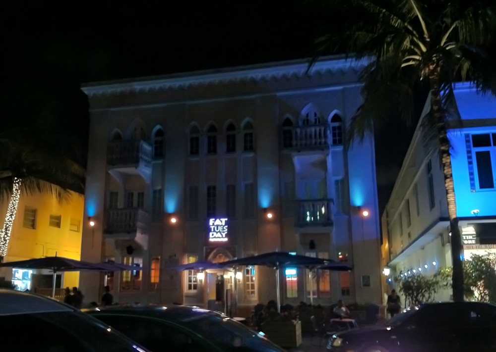 Miami Beach At Night Photography Art   Kathleen Messmer Photography