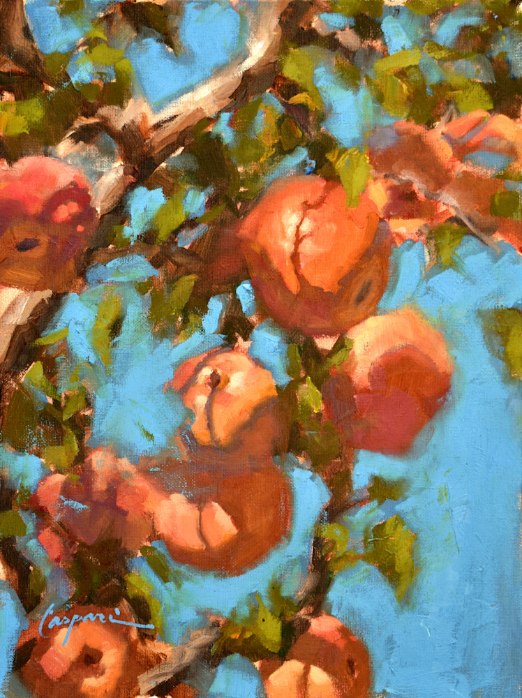 Carter Mountain Apples 12x16 Oil 2021 Art | robincaspari