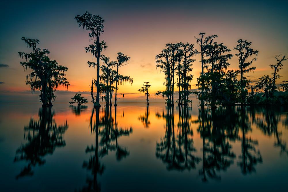 Dawn on Lake Maurepas   Shop Photography by Rick Berk