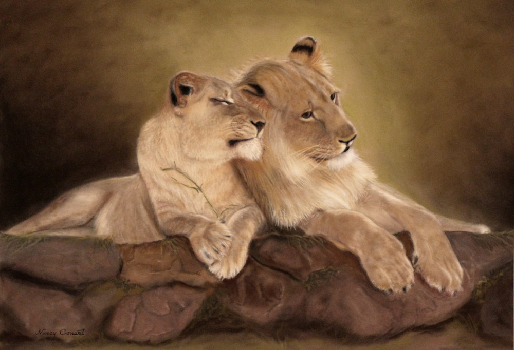 Giovane Amore – Young Love by Nancy Conant is the embodiment of lion love.