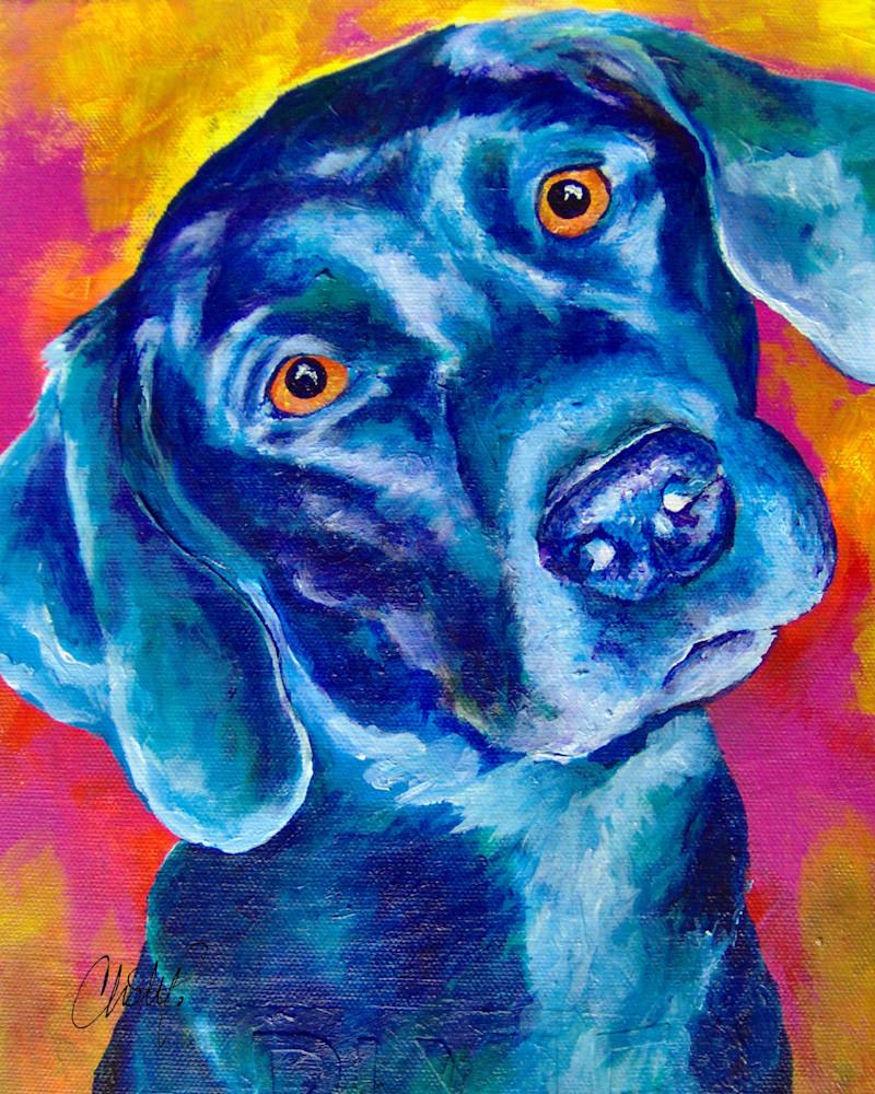 Pixie in Pop Pet Portrait Print