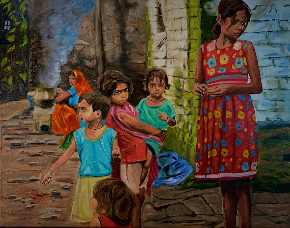 Village Meeting Art | Scott Dyer Fine Art