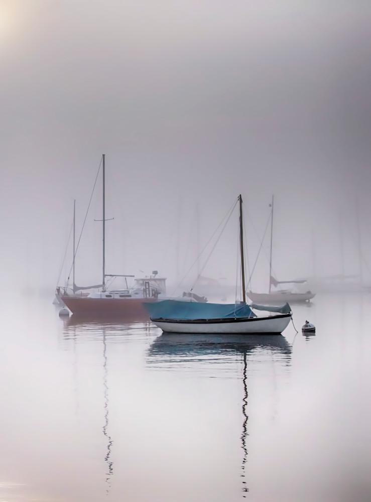 Own Park Foggy Sailboats Art   Michael Blanchard Inspirational Photography - Crossroads Gallery