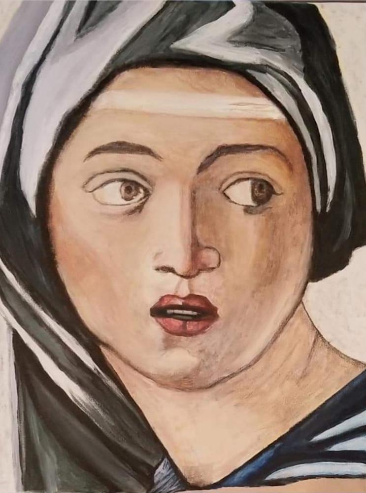 Woman In Michelangelo S Painting Art   Salvatore Ingoglia / Jbellarts