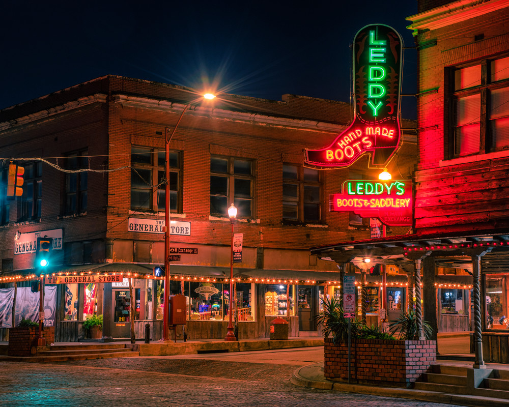 North Main and Exchange - Old Fort Worth fine-art photography prints