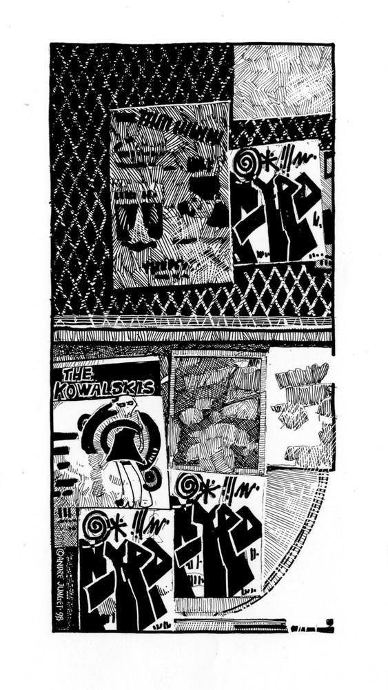 Graffiti Fence Art   Andre Junget Illustration LLC