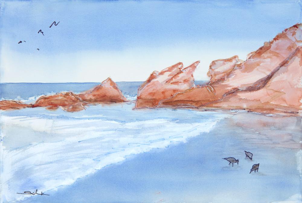 Schooner Beach   New ! Art   Elaine Schaefer Hudson Art