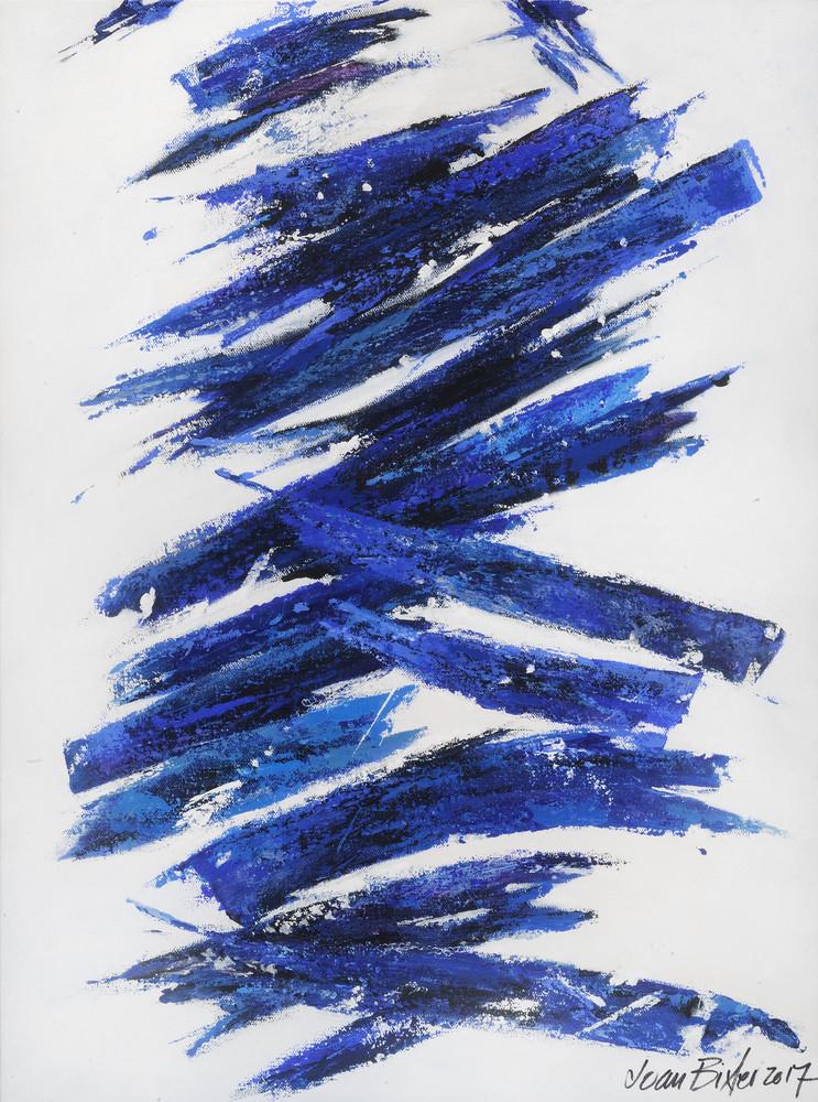 Brushstrokes White Art   Joan Bixler Art