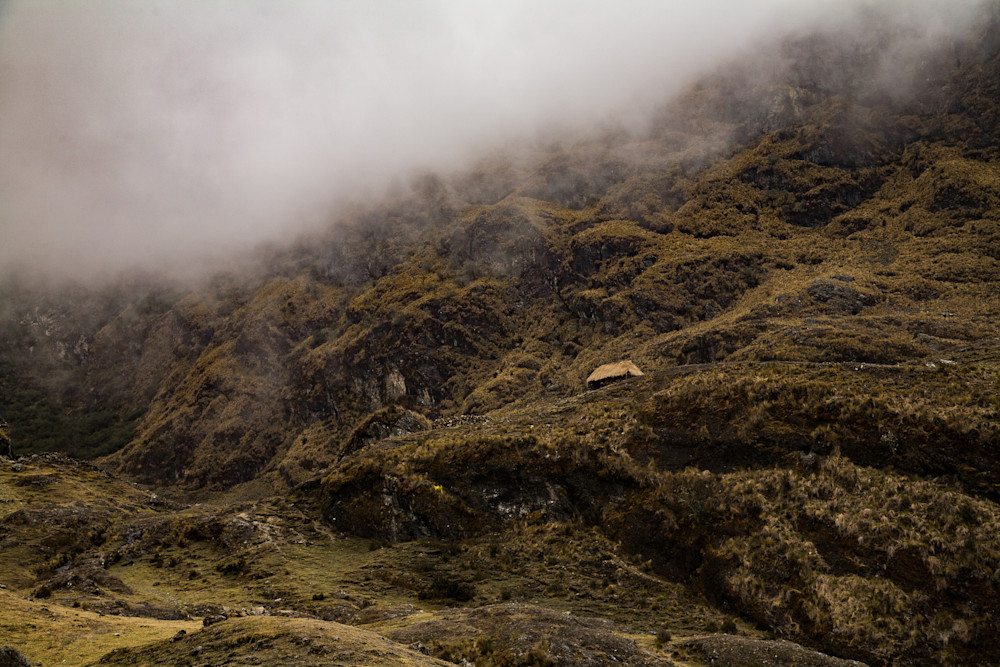 Hut in the Andes Mountains