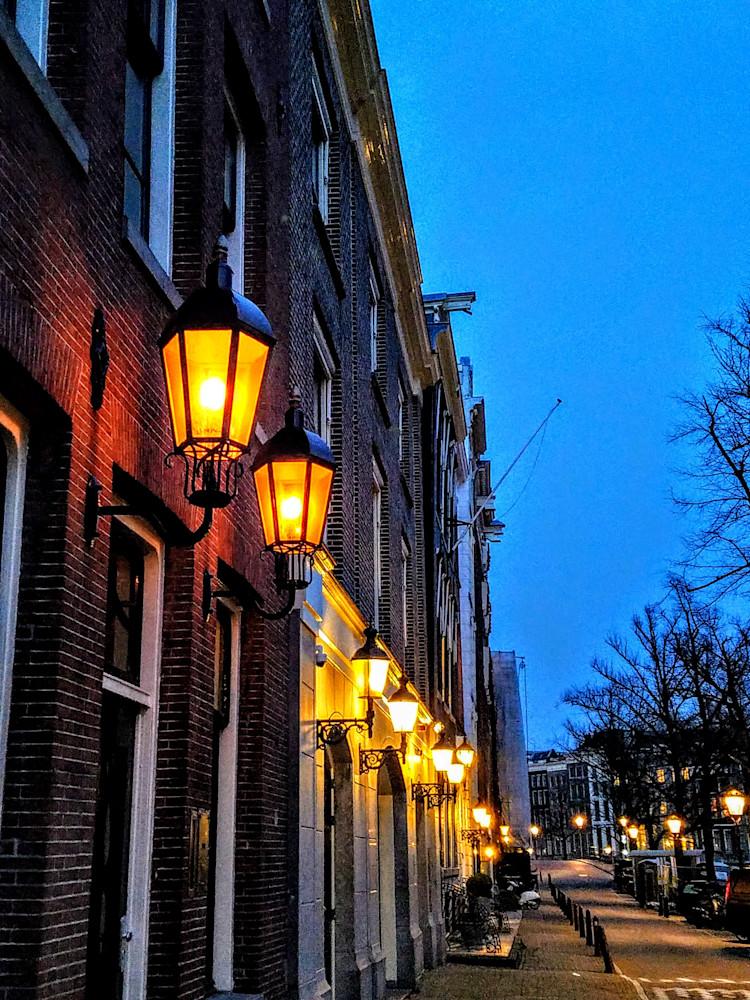 Amsterdam Lamps At Dusk Photography Art | Photoissimo - Fine Art Photography