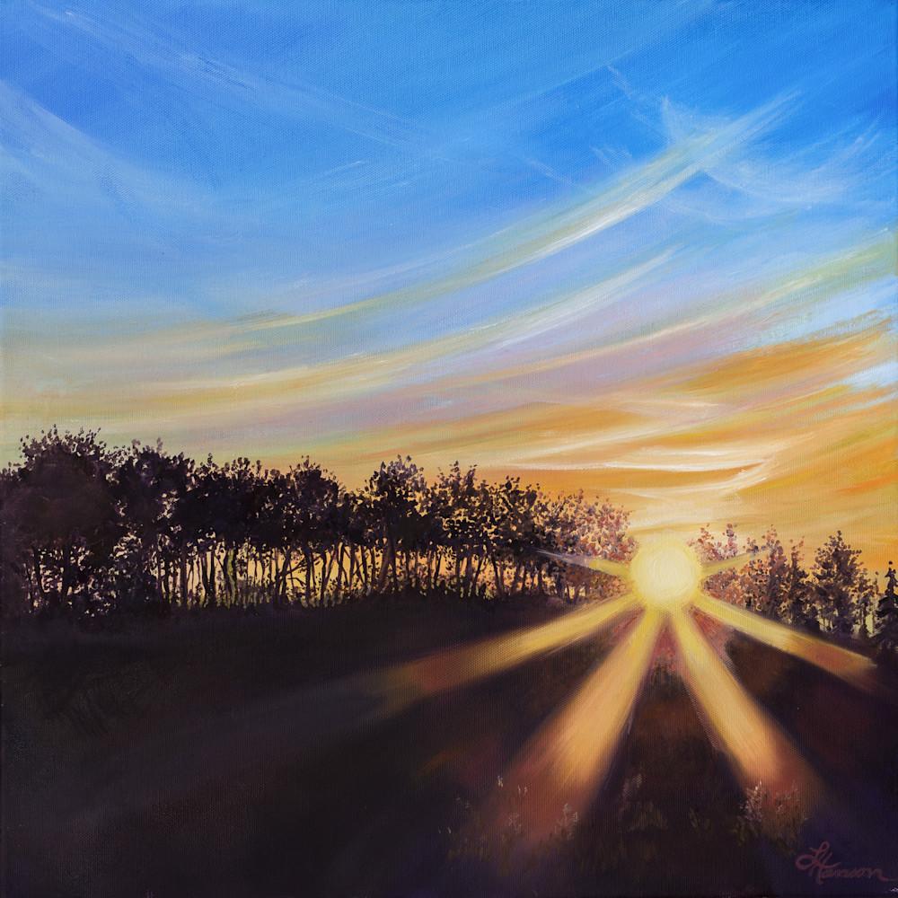 Roadside Sunset No. 3 Art | Leanne Hanson Art