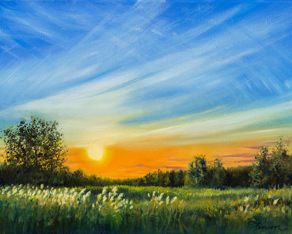 Roadside Sunset 2 Art | Leanne Hanson Art