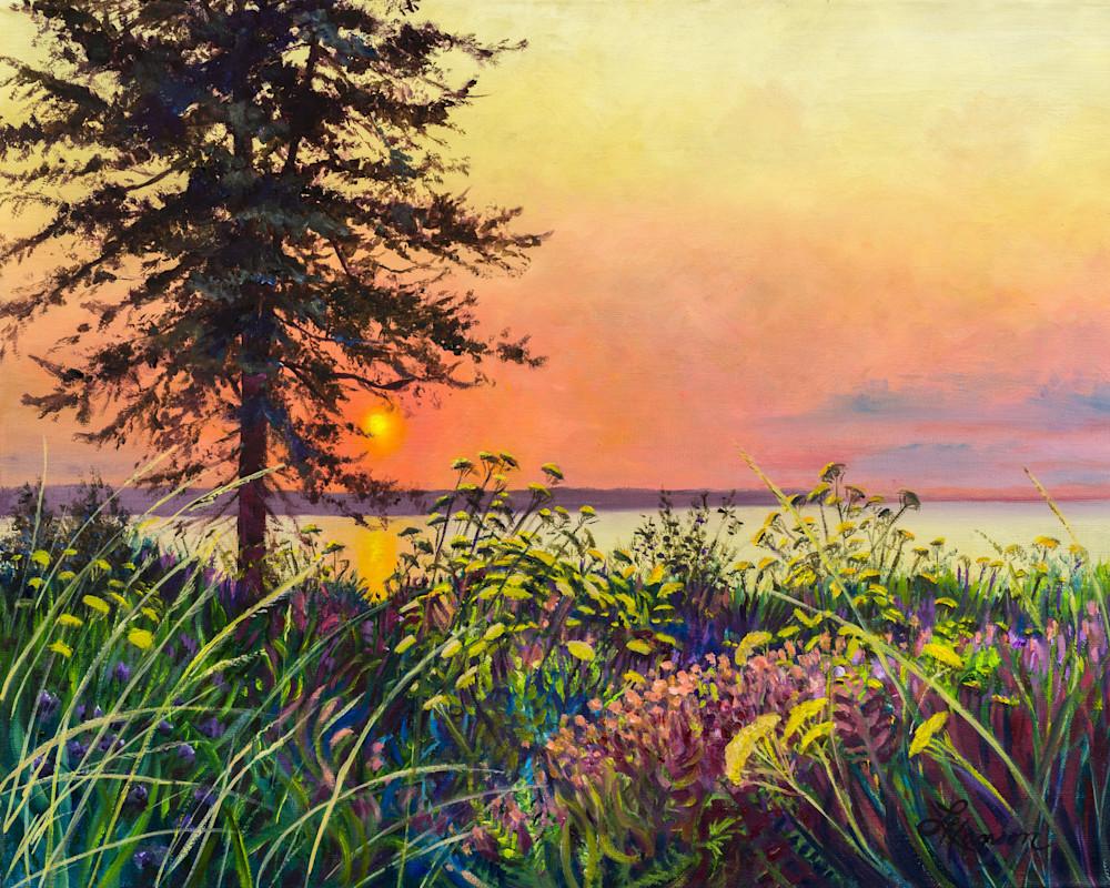 Sunset Across The Bay Art   Leanne Hanson Art