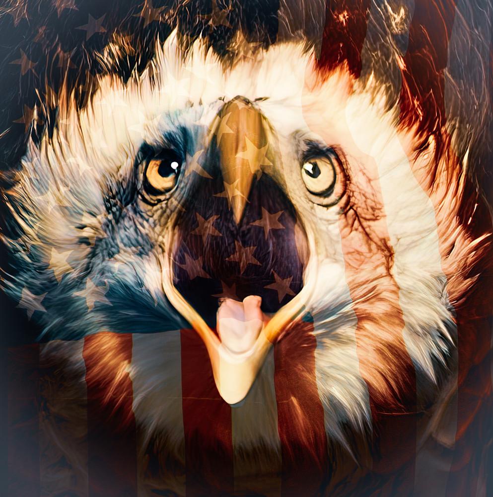 Give me Liberty Screaming Eagle - Square