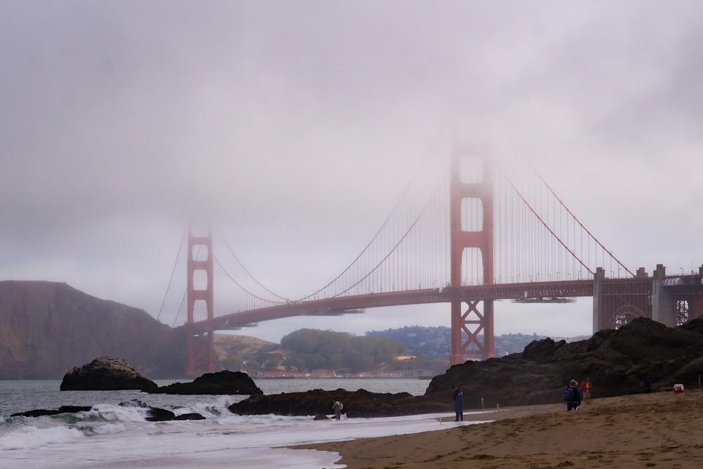 As The Fog Slowly Lifts, Foggy Coast 5 Of Many Photography Art | Ron Olcott Photography