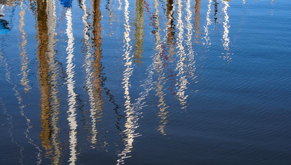 Nautical Marine Reflections I Photography Art | Ruth Burke Art
