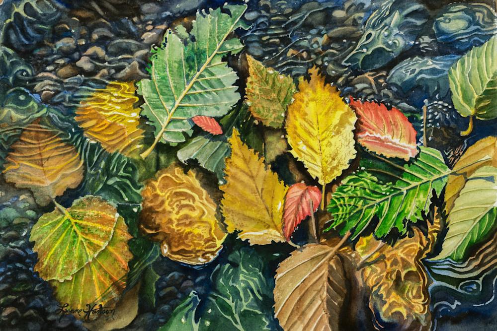 Wet Leaves Art   Leanne Hanson Art