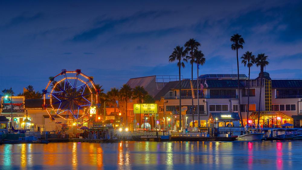 Balboa Ferris Wheel At Night Art | Shaun McGrath Photography