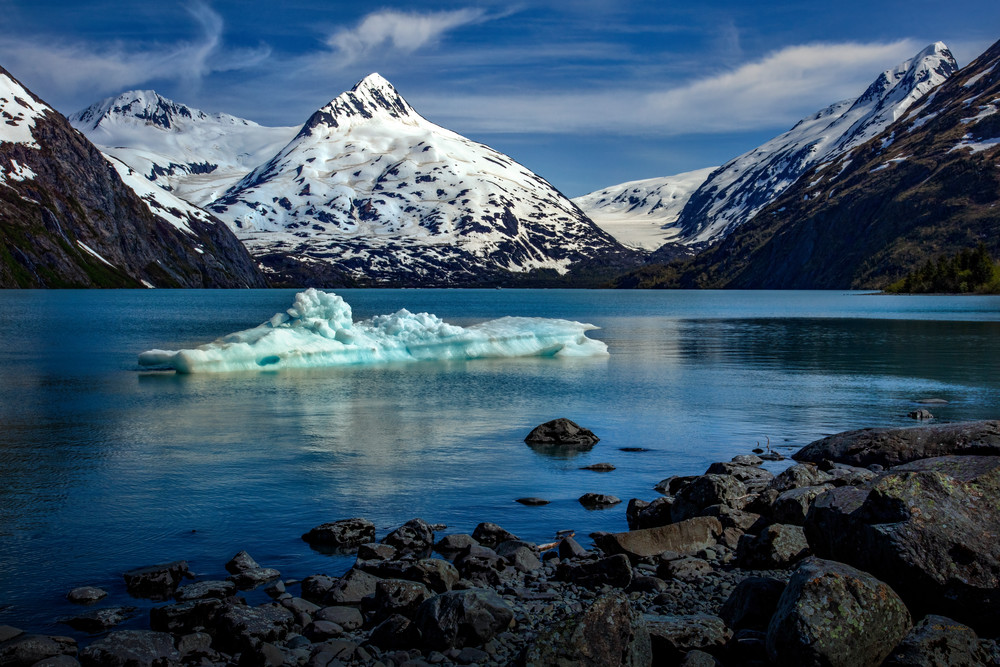 Just Calved   Glacial Ice In Portage Lake 8837 F Photography Art   Koral Martin Fine Art Photography