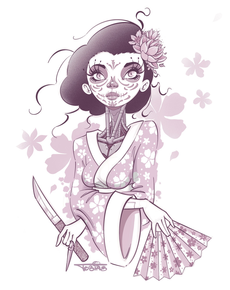 Robo Geisha Art   Art By Tobias