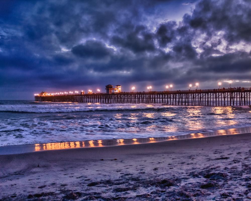 Oceanside Pier After Sunset