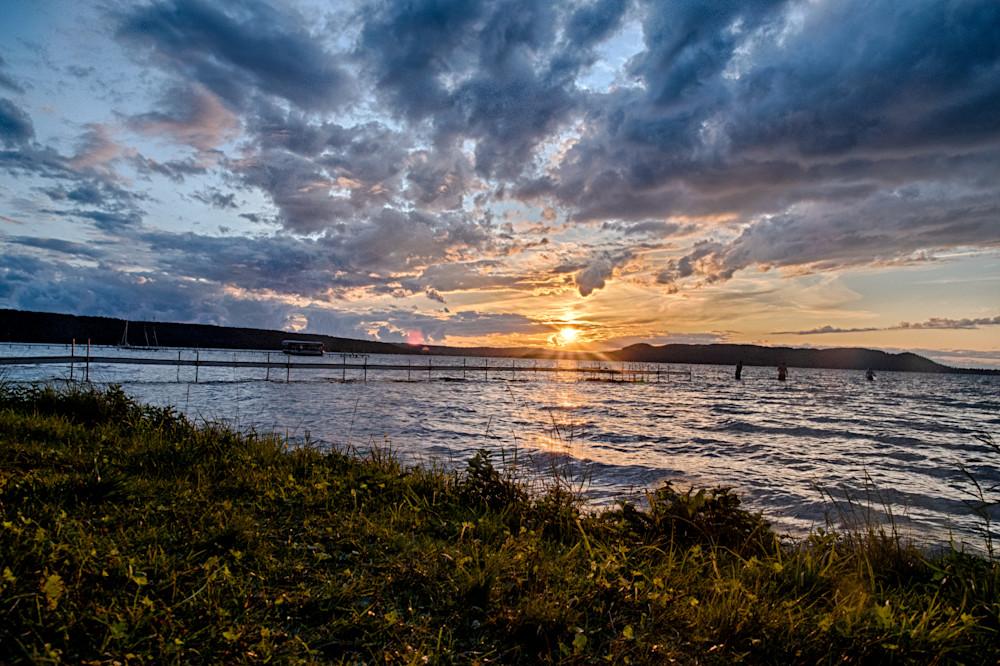 Glen Lake Evening Sunlight