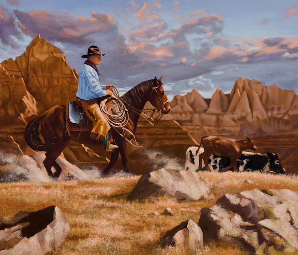 "Raymond Wattenhofer Fine Art Print ""Trail Dust""."