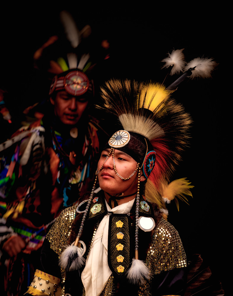 Young Blackfoot Native American Dancers in Traditional Clothing 2