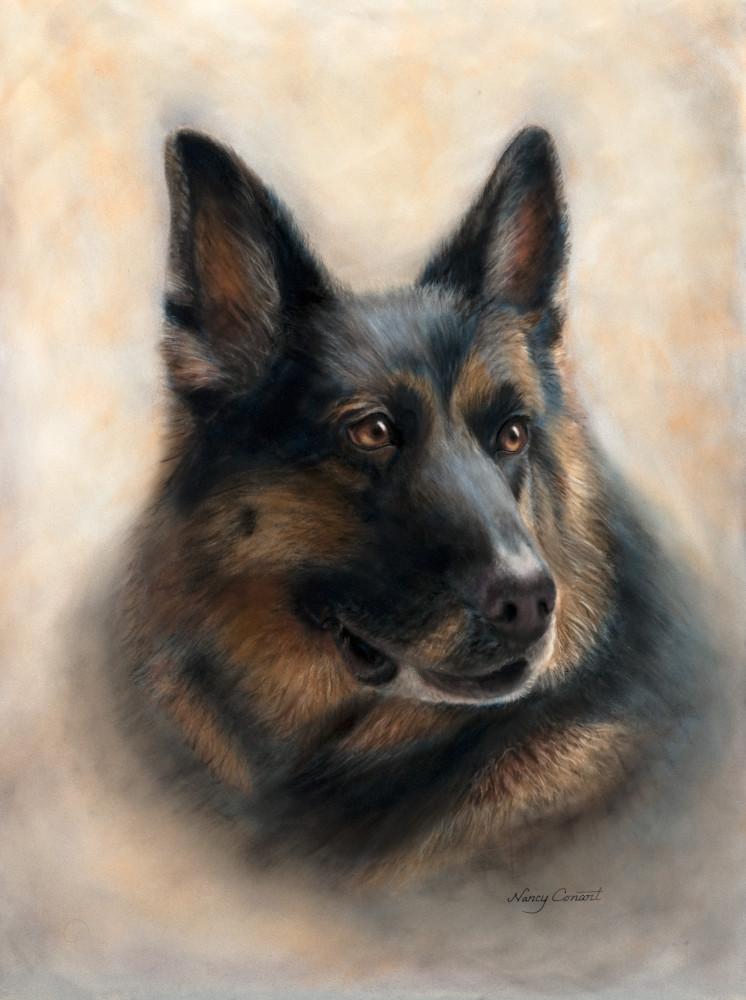 German Shepherd painting, Athena by Nancy Conant