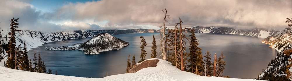 Clearing Winter Storm on Crater Lake