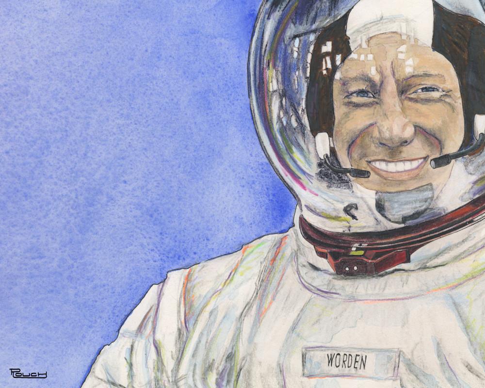 Portrait Of Al Worden Art | Artwork by Rouch