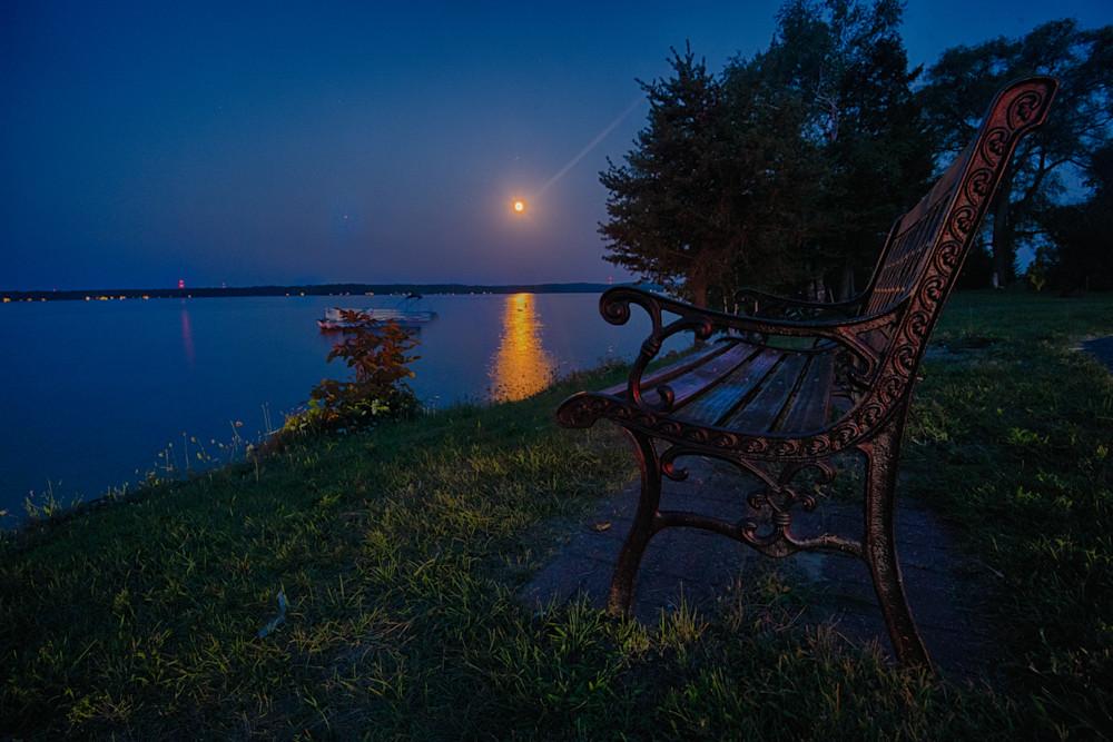 Moon Rise at Elk Lake