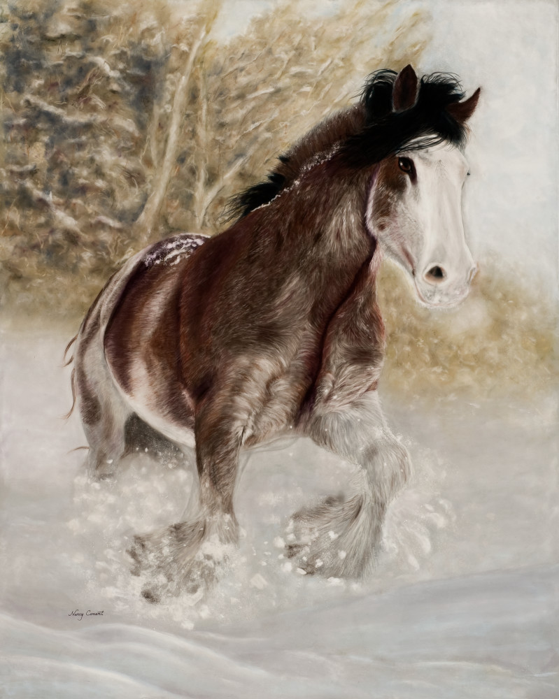 Draft horse-painting, Cool Draft by Nancy Conant