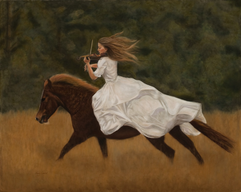woman-riding-bareback, Harmony by Nancy Conant