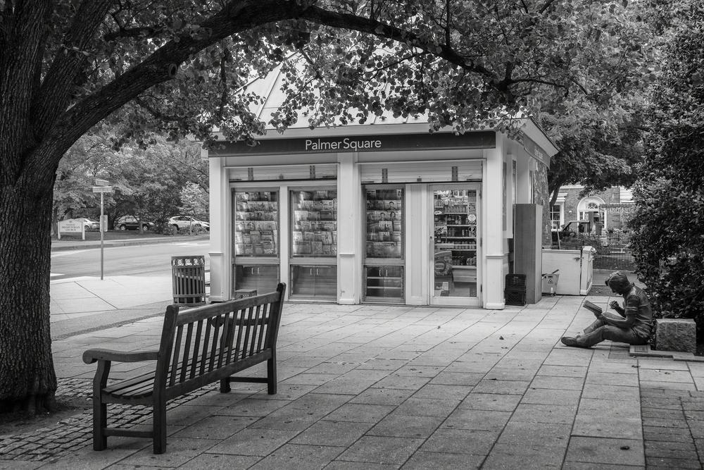 Reading In The Square Photography Art | Alina Marin-Bliach Photography/alinabstudios LLC