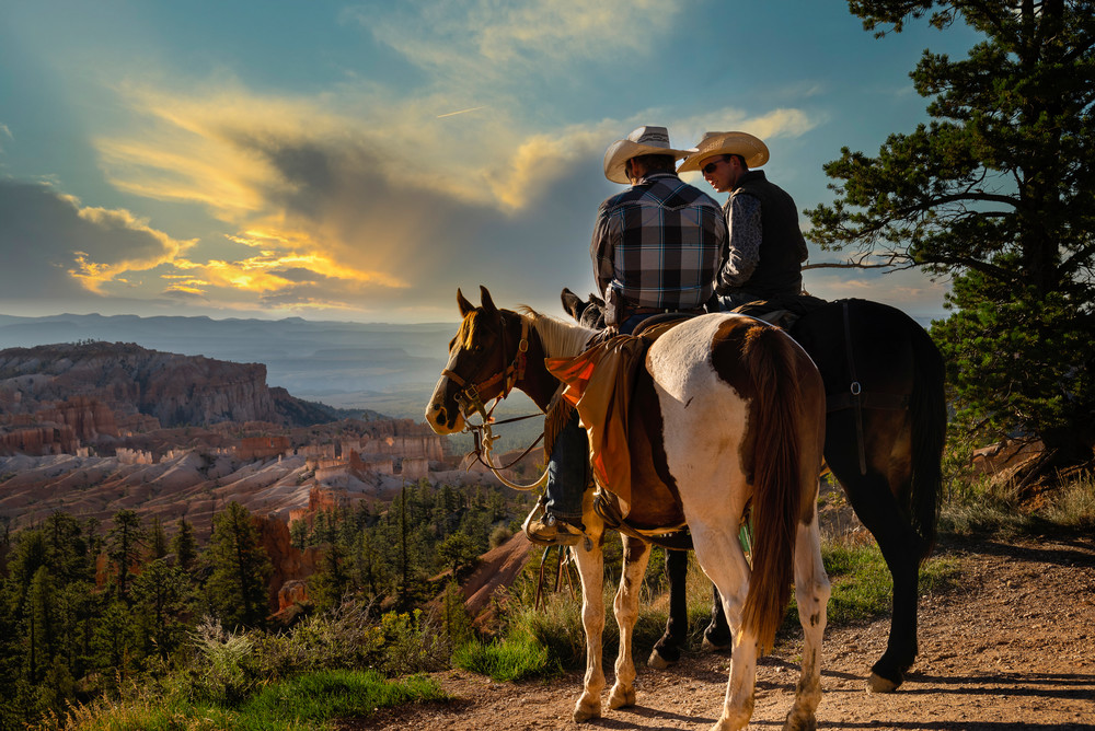 Cowboys At The Edge Of Bryce Canyon Photography Art | Kendall Photography & Fine Art