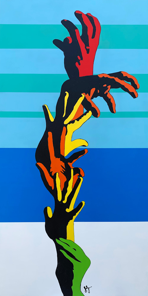 Hand Flower, Print Art   Jon Savage Contemporary Art