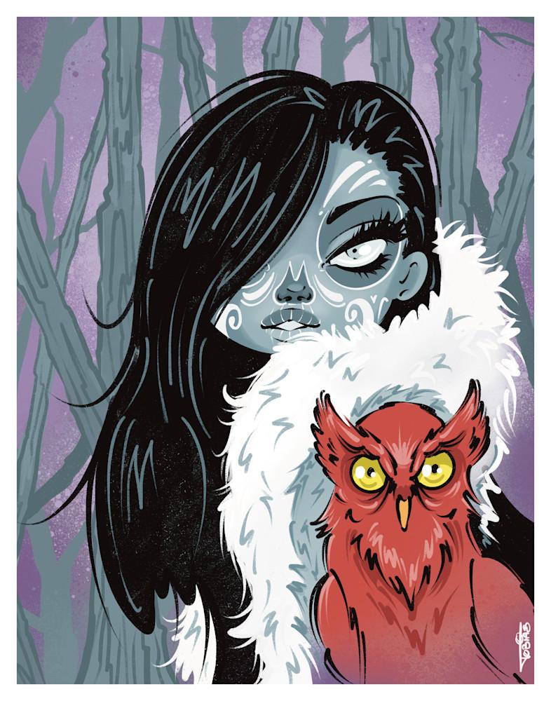 Red Owl Art   Art By Tobias